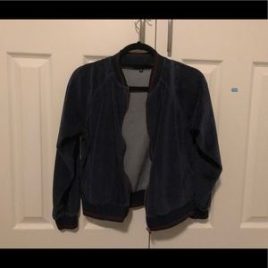 Sweaters - Kendall and Kylie blue velvet jacket